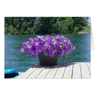 purple petunias thank you card