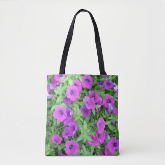 Purple Petunias Tote Bag
