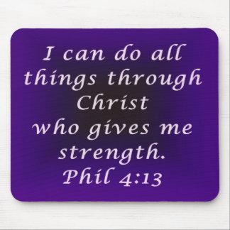 Purple Phil 4:13 Mouse Pad
