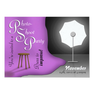 Purple Photoshoot Party Invitations
