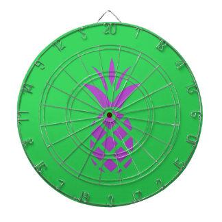 Purple pine apple in green. dartboard