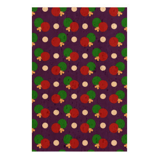 Purple ping pong pattern cork paper print