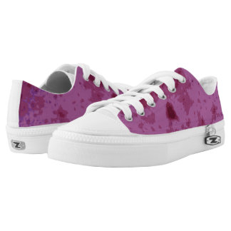 Purple pink abstract distressed pattern printed shoes
