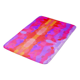 Purple, pink and orange tie dye bath mat bath mats