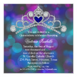 Purple Pink and Teal Blue Quinceanera Personalized Announcement
