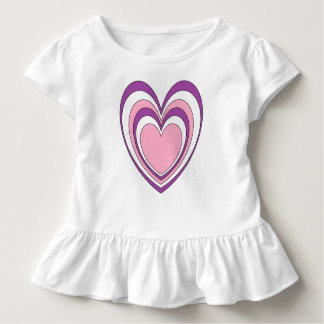 Purple Pink and White Heart Shaped Toddler T-Shirt