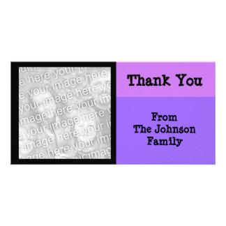 purple pink black photo cards