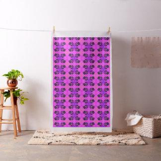 "Purple Pink Black Silhouette Roses 56"" Fabric"