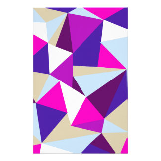 purple pink blue triangle pattern stationery