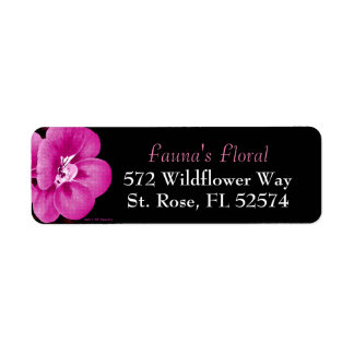 Purple Pink Floral Return Address Labels