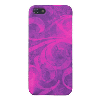 Purple Pink Floral Swirl Flourish Girly Pattern Cover For iPhone 5/5S