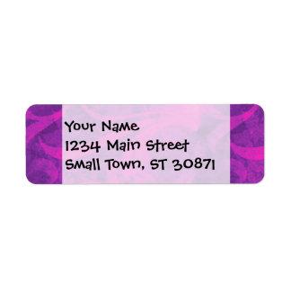 Purple Pink Floral Swirl Flourish Girly Pattern Return Address Label