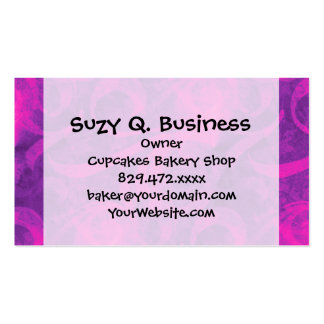 Purple Pink Floral Swirl Flourish Girly Pattern Pack Of Standard Business Cards