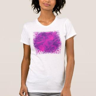 Purple Pink Floral Swirl Flourish Girly Pattern Tshirt