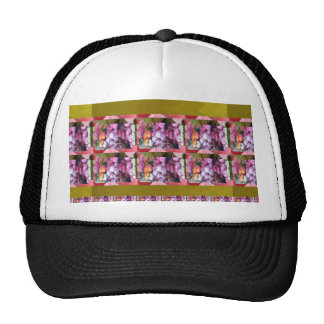 Purple Pink Flower pattern Elegant Gifts Occasions Trucker Hats