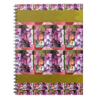 Purple Pink Flower pattern Elegant Gifts Occasions Spiral Note Book