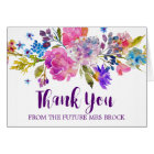 Purple & Pink Flower Thank You From the Future Mrs Card