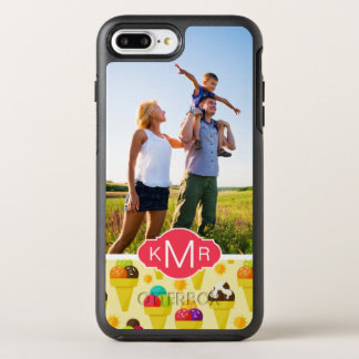 Purple & Pink Ice Cream Cones | Add Your Photo OtterBox Symmetry iPhone 7 Plus Case