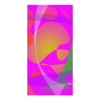 Purple Pink Irregular Forms Photo Card