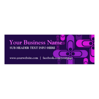 Purple Pink Modern Mini Business Cards