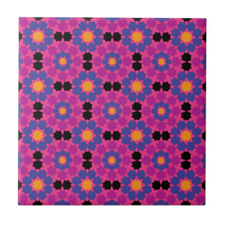 Purple Pink Mosaic Small Square Tile