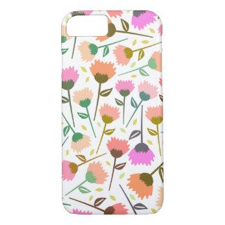 Purple Pink Orange Flower Color Pattern iPhone 8/7 Case