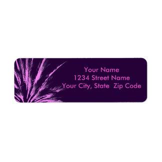 Purple Pink Palm Tree Return Address Label