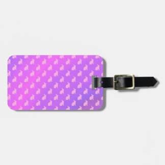 Purple Pink Pastel Bunny Background Bunnies Luggage Tag