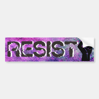 Purple & Pink RESIST Fist Bumper Sticker