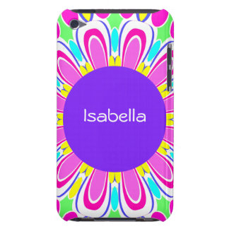 Purple & Pink Retro Flower Custom iPod Touch Case
