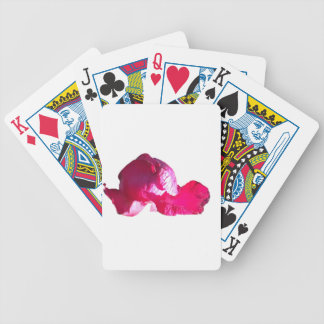 Purple Pink Rose Bud Flowers Bicycle Playing Cards