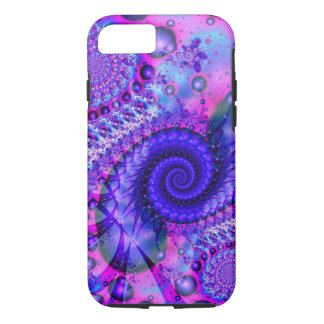 Purple Pink Spiral Apple iPhone Case 8/7, Tough