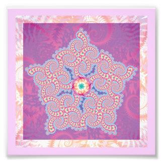 Purple & Pink Star Pattern Photo Art