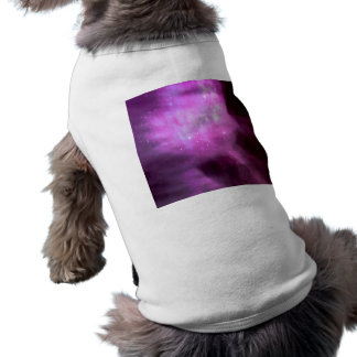 Purple pink stars in space sleeveless dog shirt