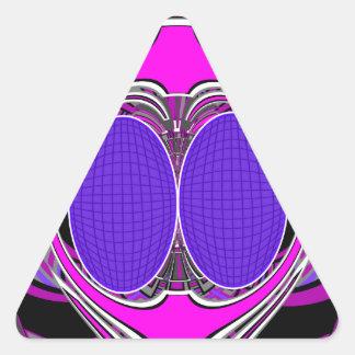 Purple pink superfly design sticker