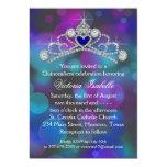 Purple Pink Teal Blue Quinceanera 13 Cm X 18 Cm Invitation Card