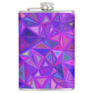 Purple pink tile mosaic hip flask