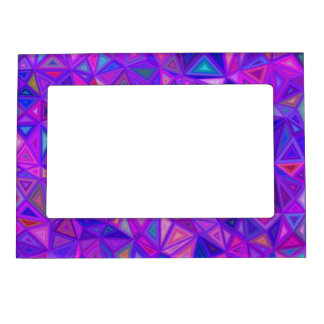 Purple pink tile mosaic magnetic frame