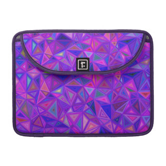 Purple pink tile mosaic sleeve for MacBook pro