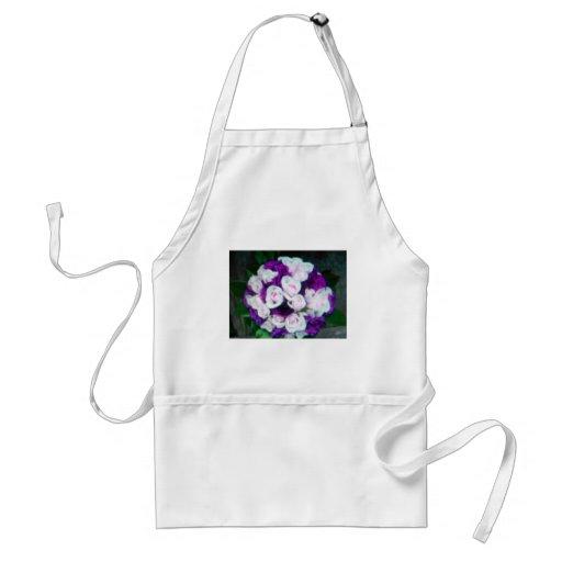 purple & pink wedding flowers apron