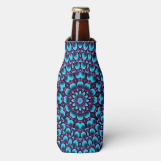 Purple Piper Kaleidoscope Colorful Bottle Cooler