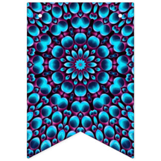 Purple Piper Vintage Kaleidoscope Bunting Flags