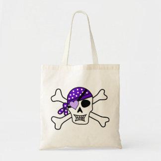 Purple Pirate Crossbones Bag