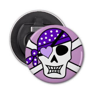 Purple Pirate Crossbones Bottle Opener
