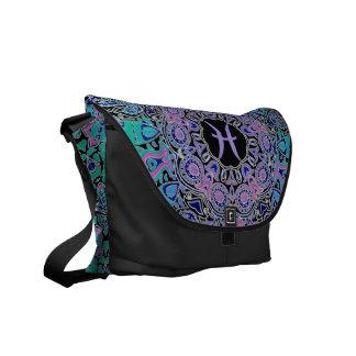 Purple Pisces Mandala Commuter Bag