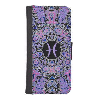 Purple Pisces Mandala Phone Wallet Case