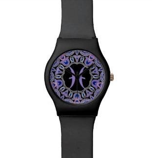 Purple Pisces Mandala Watch