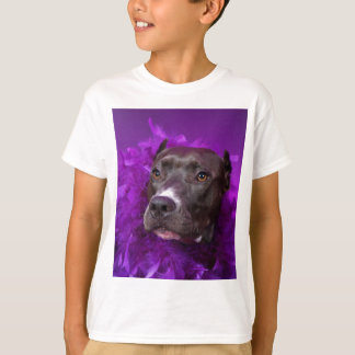 Purple Pit Bull Diva T-Shirt