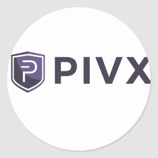 Purple PIVX Shield & Name Round Sticker