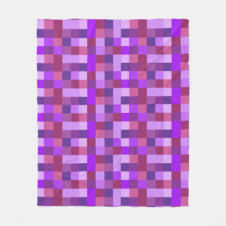 Purple Pixelated Fleece Blanket